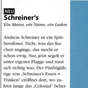 Schreiners_Presse_Überblick - Bericht S.1 _6 bb